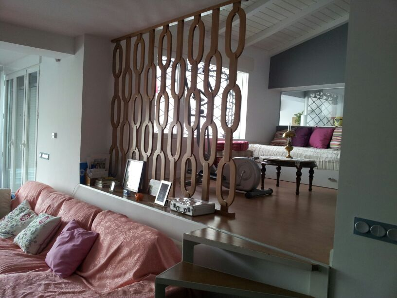 Separador salón – dormitorio loft