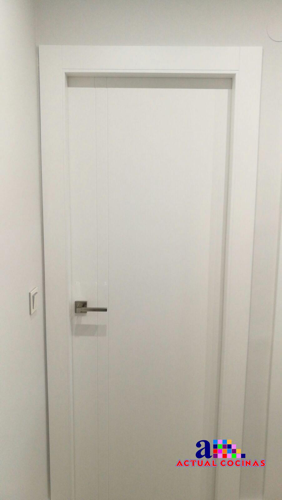 Puerta lacada individual actualcocinas carpinter a - Carpinteros murcia ...